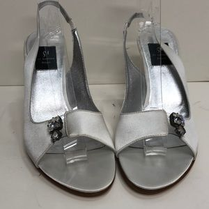 DiSandro Made in Italy White Satin HighHeel Sandal
